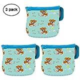 3 Pack Neoprene Glass Baby Bottle Sleeve Baby Bottle Cover Jacket Bag For 4 oz Avent