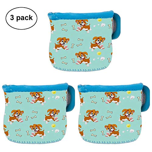 3 Pack Neoprene Glass Baby Bottle Sleeve Baby Bottle Cover Jacket Bag For 4 oz Avent by Unknown