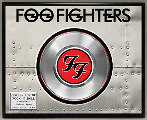 G.A.R.R. Foo Fighters Platinum Record Poster Art Limited Edition Commemorative Music Memorabilia Display ()