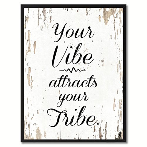 SpotColorArt Your Your Vibe Attracts Your Tribe Framed Canvas Art, 7
