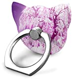 Phone Stand Cherry Blossom Purple Cat Type Ring Phone Holder Adjustable 360° Rotation