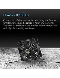 AC Infinity AXIAL 2589, ventilador de magdalenas de 10.0 in, 120 V AC Ø254 mm x 3.504 in de alta velocidad, para proyectos de ventilación de refrigeración DIY