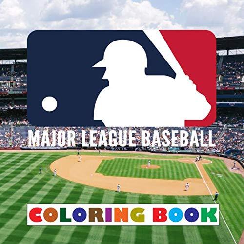 Major League Baseball Coloring Book: Super coloring book containing every logo from MLB - Original birthday present / gift idea.