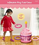 Inflatable Birthday Girl Ring Toss Game