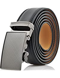 Marino Men's Genuine Leather Ratchet Dress Belt With Automatic Buckle, Enclosed in an Elegant Gift Box