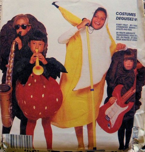 McCall's 3420 Banana , Raisin, Strawberry Adult and Child Costume Sewing Pattern]()