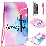 Note 3 Case, JCmax Colorful Foldable [Detachable] PU Leather Wallet Case With [Card Slots][Magnetic][ Wrist Strap] For Samsung Galaxy Note 3 N9000 [Stay Strong]