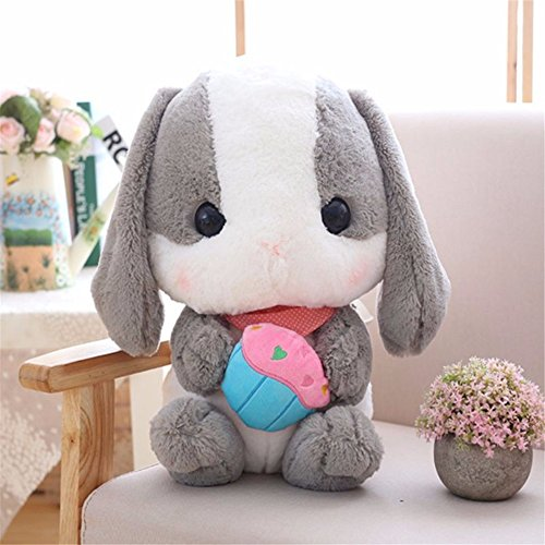 Livoty 9 Inches Easter Rabbit Plush Toys Room Decoraration Soft Stuffed Animal Toy for Kids Birthday Party Gift ()