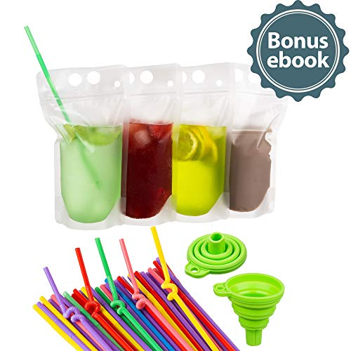 Deluxe 50-Pcs Disposable Drink Pouch Set by DYLEX