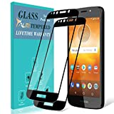 [2-Pack] TAURI Screen Protector for Motorola Moto E5 Play/Moto E5 Cruise, [Full Cover][Tempered Glass] Screen Protector with Lifetime Replacement Warranty - Black