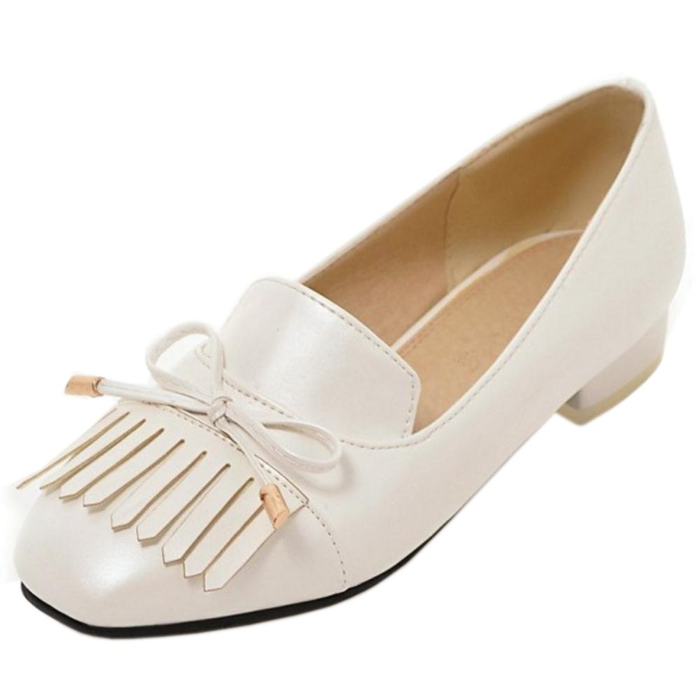 JOJONUNU Women Classics Flats Pumps Slip On B07923V668 CM|White 9.5 US = 26 CM|White B07923V668 6a18ee