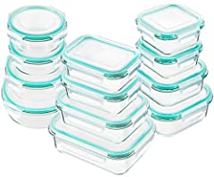 Glass Food Storage Container SetOur glass containers include 3 different types and 9 volumes:Rectangle container: 2x370ml(1.6 cups),1x630ml(2.7 cups),1x1040ml(4.5 cups),Square container: 2x310ml(1.4 cups),1x530ml(2.3 cups),1x800ml(3.4 cups),R...