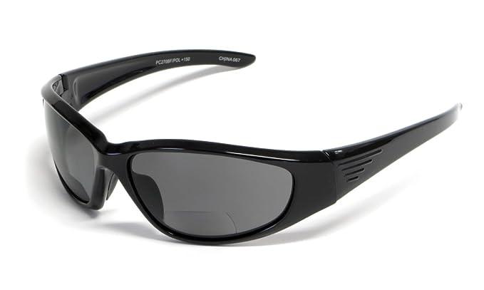 45a8438411d Grand Banks 473BF Polarized Bi-Focal Reading Sunglasses in Gloss-Black    Grey +