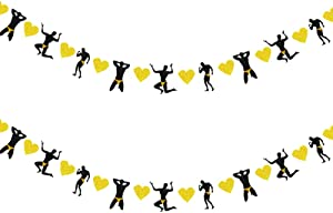 Male Dancers Strippers Banner, Bachelorette Party Garland,Naughty Dirty, Hen Party Supplies, Wedding, Engagement and Bridal Shower Party Decorations