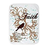 Royal Lion Baby Blanket White Faith Prayer Dove Christian Cross