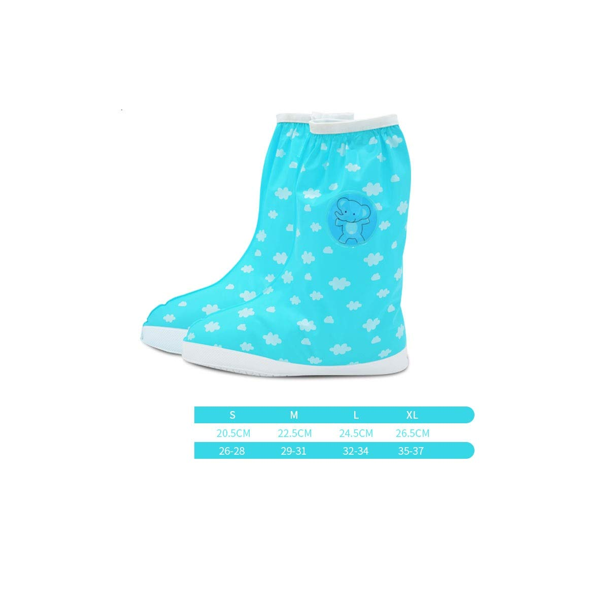 WUHUIZHENJINGXIAOBU Rain Boots, Men and Women Thick Wear-Resistant Anti-Slip Sand Cover, Student Rain Waterproof Shoe Cover, A Variety of Colors Available Shoe Covers That can be Worn on Rainy Days, by WUHUIZHENJINGXIAOBU