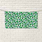 smallbeefly Exotic Sports Towel Vibrant San Pedro Cactus Foliage Climate Desert Flourishing Mexican Plants Absorbent Towel Forest Green Red Size: W 12'' x L 35.18''