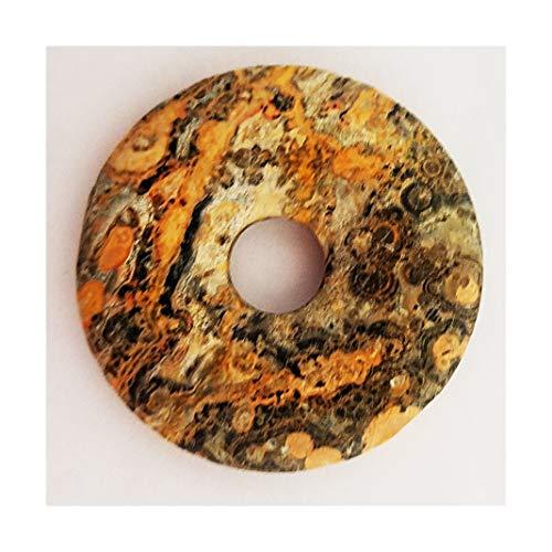 Leopard Skin Jasper 40mm Donut Pendant (40 Mm Donut)