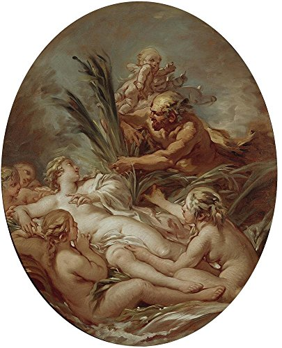 Boucher Costume Jewelry ('Boucher Francois Pan And Syrinx Ca. 1762 ' Oil Painting, 12 X 15 Inch / 30 X 38 Cm ,printed On Perfect Effect Canvas ,this High Quality Art Decorative Prints On Canvas Is Perfectly Suitalbe For Nursery Gallery Art And Home Decor And Gifts)