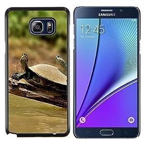 Caucho caso de Shell duro de la cubierta de accesorios de protección BY RAYDREAMMM - Samsung Galaxy Note 5 5th N9200 - Tortuga Soleado Verano Tropical