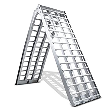 Motorbike Ramps/ 2750/mm Long X 440/m Wide x 680/kg Capacity Loading Ramps The Black Widow MKII XL /Extra Strong
