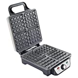 #6: 4-Piece Square Stainless Steel Waffle Maker