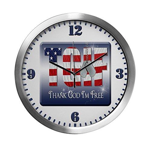 Modern Wall Clock Thank God I'm Free