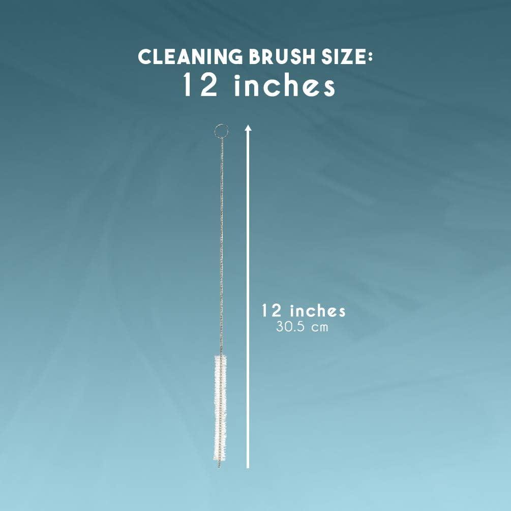 boba et smoothie 30,5 x 1 x 1 cm Lot de 4 brosses de nettoyage pour paille en acier inoxydable avec design extra long pour gobelet