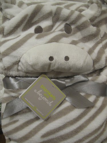 Soft Animal Hooded Blanket with Stripes