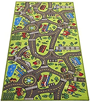 Large Small Kids Rug Bedroom Zoo Animals Pattern Durable Carpet Nursery Play Mat