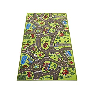 Extra Large 6.6 Feet Long! Kids Carpet Playmat Rug   City Life, Great to Play with Cars & Toys - Have Fun! Safe, Learn, Educational -Ideal Gift for Children Baby Bedroom Play Room Game Play Mat Rugs