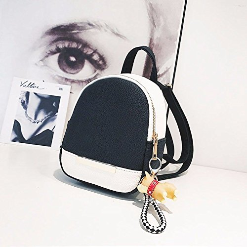 Small Small Joker Bags Pu Black Backpacks Shoulder Women Bags Fashion IqIxX1O0