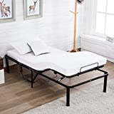 electric adjustable bed frame - Mecor Electric Adjustable Metal Bed Frame Base Foundation with Head and leg elevation,Remote Control,Twin
