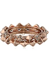House of Harlow 1960 Rose Gold-Plated Spike Stack Ring