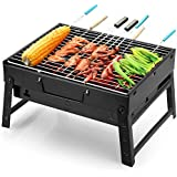Uten Barbecue Charcoal Grill Folding Portable Lightweight BBQ Tools for Outdoor Cooking Camping Hiking Picnics Tailgating Backpacking
