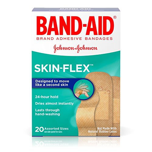 Band-Aid Brand Skin-Flex Adhesive Bandages for First Aid and Wound Care, Assorted, 20 ct