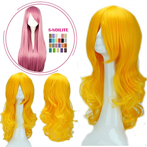 Halloween Costumes In 10 Minutes (S-noilite Cosplay Wig Real Thick Heat Resistant Synthetic Hair Halloween Anime Hair Costume Full Head Wigs For Womens Girls (24