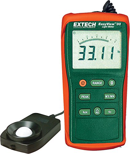 Extech EA30 Easy View Wide Range Light Meter (40 to 40,000 Foot Candles) by Extech