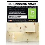 ringworm Premium Tea Tree Oil Soap - 100% All Natural USA Made Bars for BJJ, Jiu Jitsu, Wrestling, and Grappling - Combats Ringworm, Jock Itch, Athlete's Foot, Acne, and more (2-Pack of 4 Ounce Soap Bars)