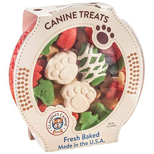 Claudia's Canine Cuisine - Santa Paws Classic Gourmet Dog Cookies (Dog Gifts Christmas)