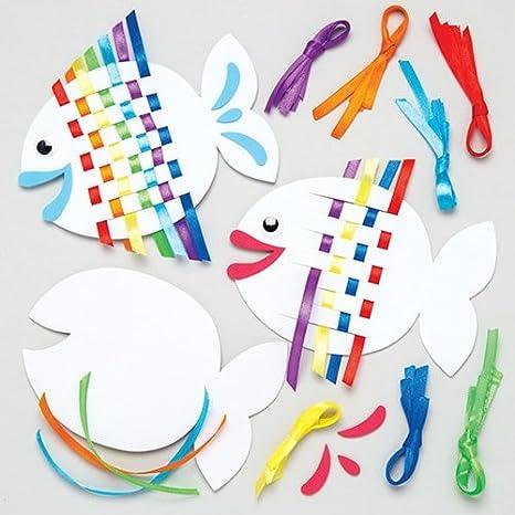 Manualidades Infantiles.Baker Ross Kits Para Tejer Peces De Colores Juegos De Manualidades
