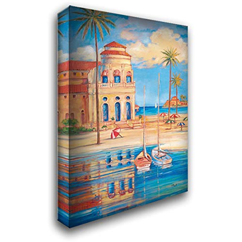 Beach Club I 40x60 Extra Large Gallery Wrapped Stretched Canvas Art by Brent, Paul