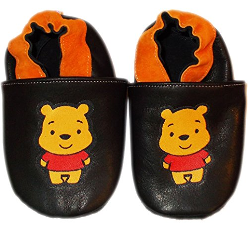 MiniShoes Baby Boy & Girl Infant Soft Sole Winnie The Pooh Leather Crib Shoes 18-246 Months