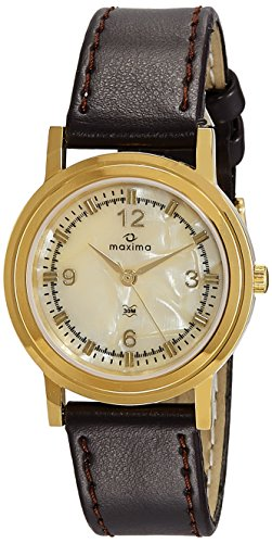 Maxima Analog Mother of Pearl Dial Men's Watch – 38417LMGY