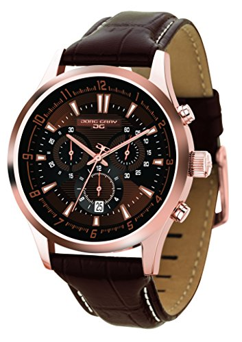 Jorg Gray JG6800-24 Brown Dial & Leather Strap Chronograph Men's Watch