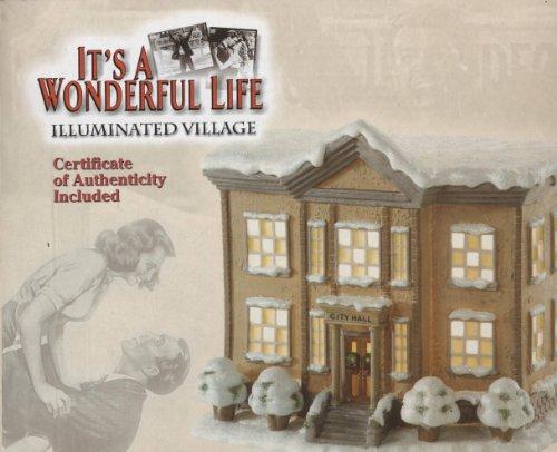 It's a Wonderful Life Illuminated Village Series II City Hall (Wonderful Village Life)