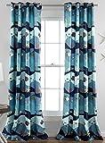 Lush Decor Sea Life Room Darkening Window Curtain Panel, 84 x 52, Blue Review