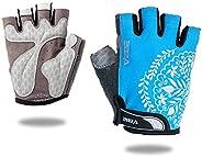 VEBE Women Biking Cycling Gloves Non-Slip Shockproof Short Finger Gloves Outdoor Riding Mountain Bike Gloves