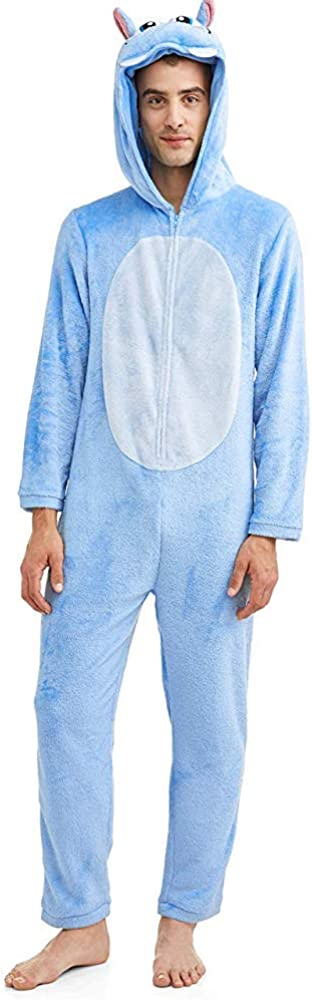 Briefly Stated Feeling Hip Mens Hippo Union Suit Pajamas