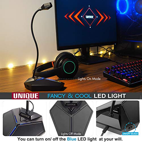 USB Computer Microphone, Plug &Play Desktop Omnidirectional Condenser PC Laptop Mic, Mute Button with LED Indicator, Compatible with Windows/Mac, Ideal for YouTube, Skype, Recording, Games(1.8m /6ft)
